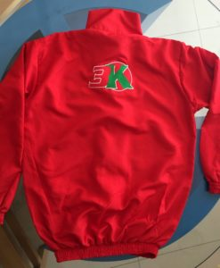 Micro Fiber Winter Jacket Backside with Embroidery Red color in Dubai UAE