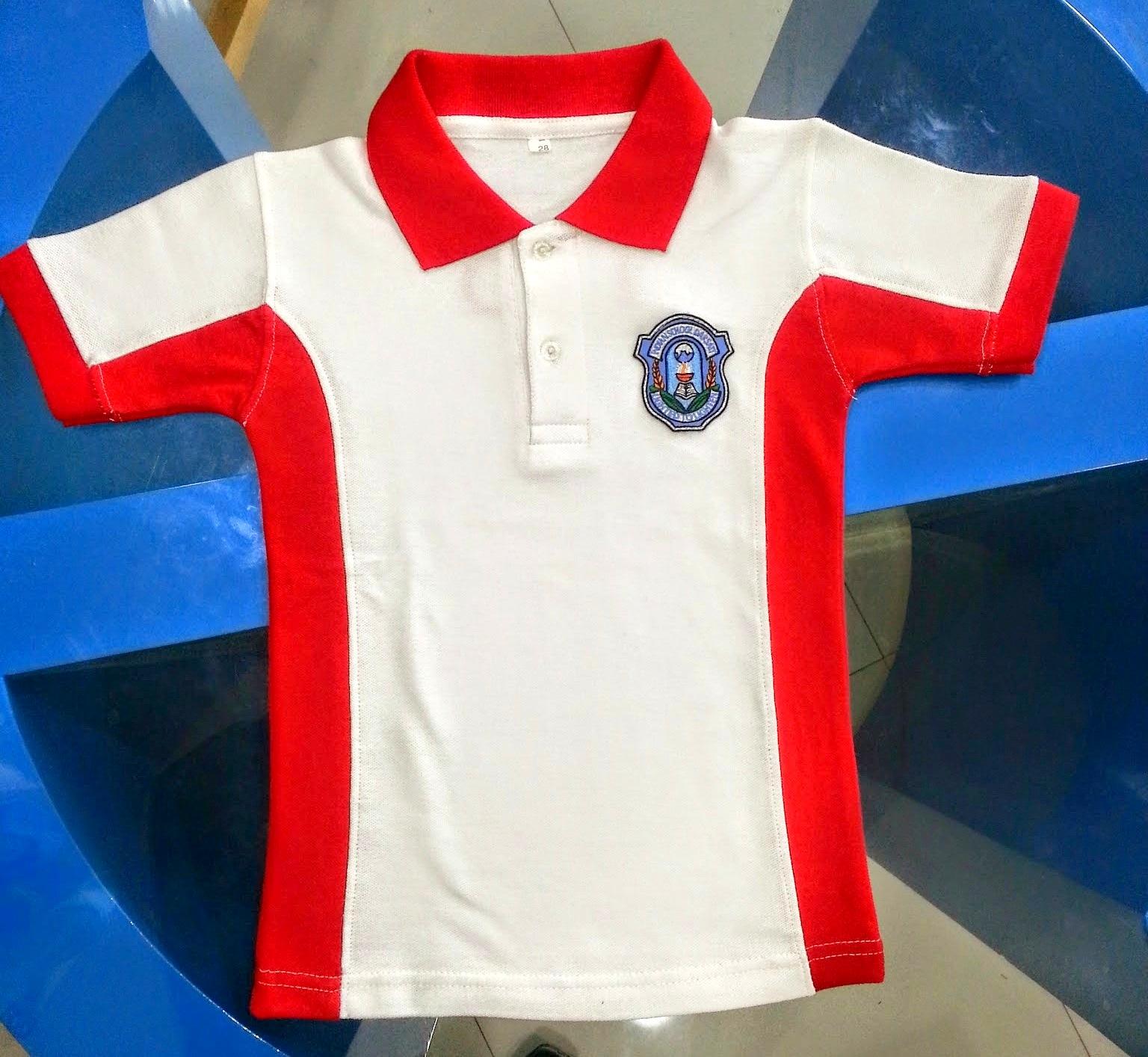 Tesco school logo polo shirts for T shirt logo embroidery