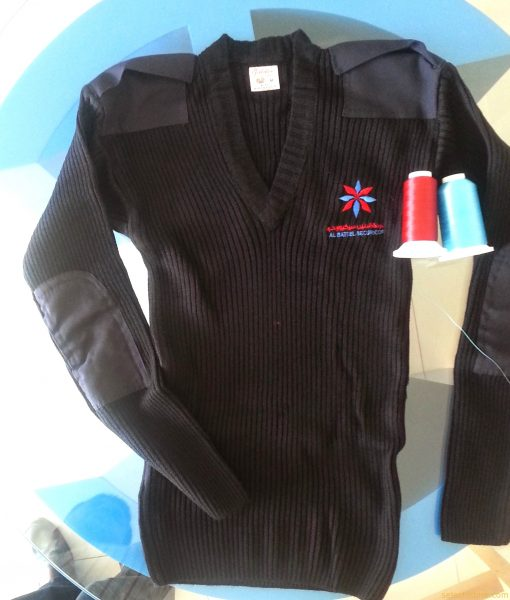 Cardigans, Jumpers, Pullovers - for School & Security uniform in Dubai United Arab Emirates. V-neck Security Jumper. Cardigans, Jumpers, Pullovers - for School & Security