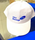 White Cap with logo Embroidery in Dubai UAE Baseball cap back side adjustable buckle