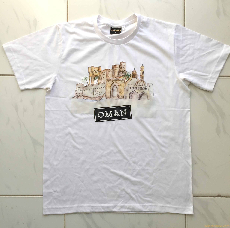 White apron dubai - T Shirts Printing Uae White Tee With Heat Transfer Printing In Dubai United Arab