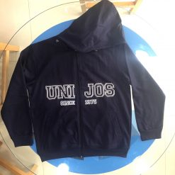 Winter wear Fleece Jacket hoody with screen printing and embroidery