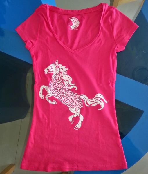 Women T-shirt with printing in Dubai UAE. Screen printing Dubai