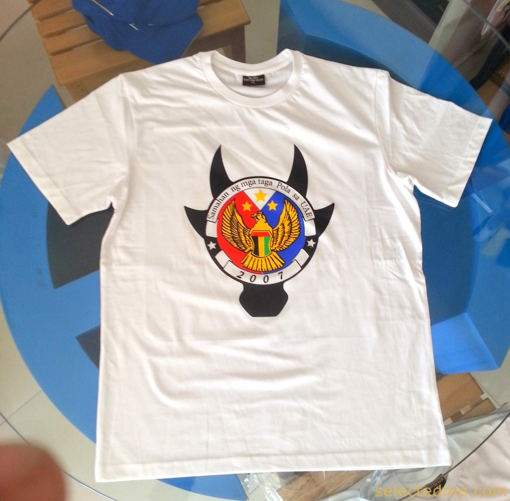 T Shirts Printing Dubai - Cotton T-shirt round neck with screen printing in Dubai