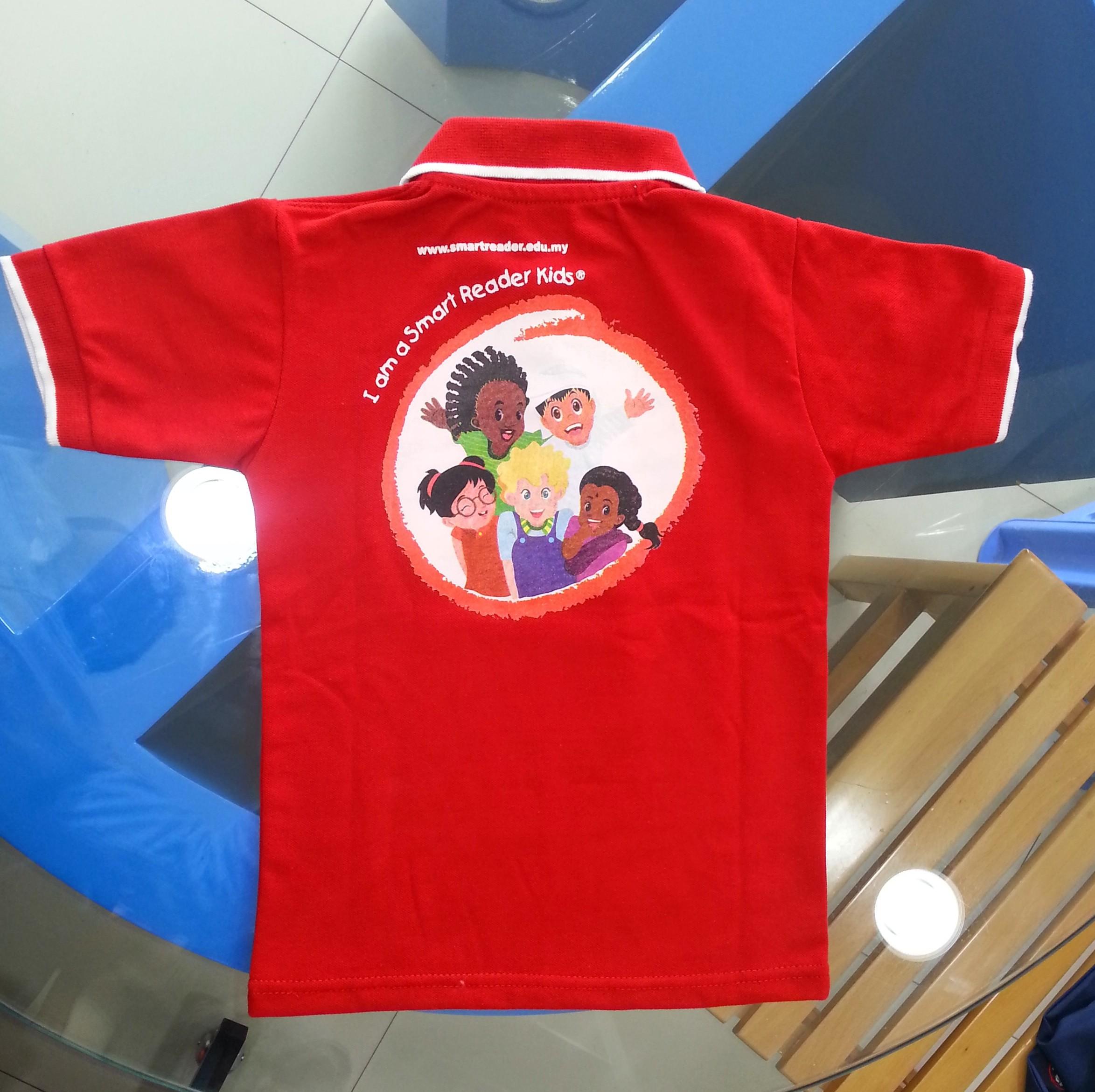 Kindergarten polo shirt with printing