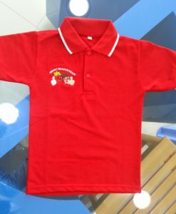 Kindergarten School Polo Shirts uniform with school name and logo embroidery