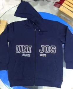 winter wear Fleece Jacket hoodie with screen printing on front