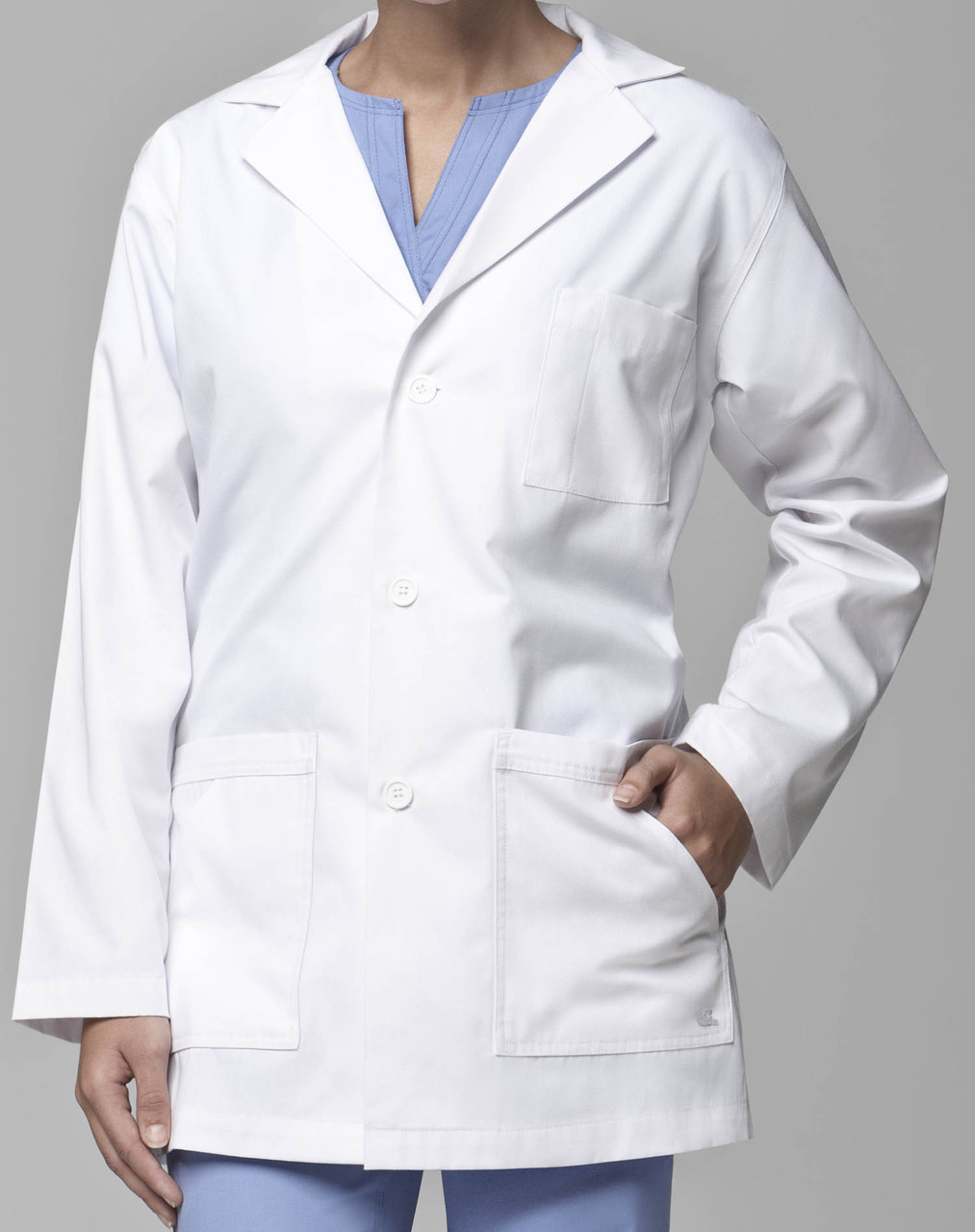 Doctors Lab coats white color full sleeve with embroidery