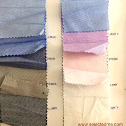 Oxford shirt fabric colour swatches for formal shirts uniform in Dubai UAE
