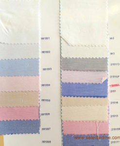 Oxford shirting fabric for shirt color card
