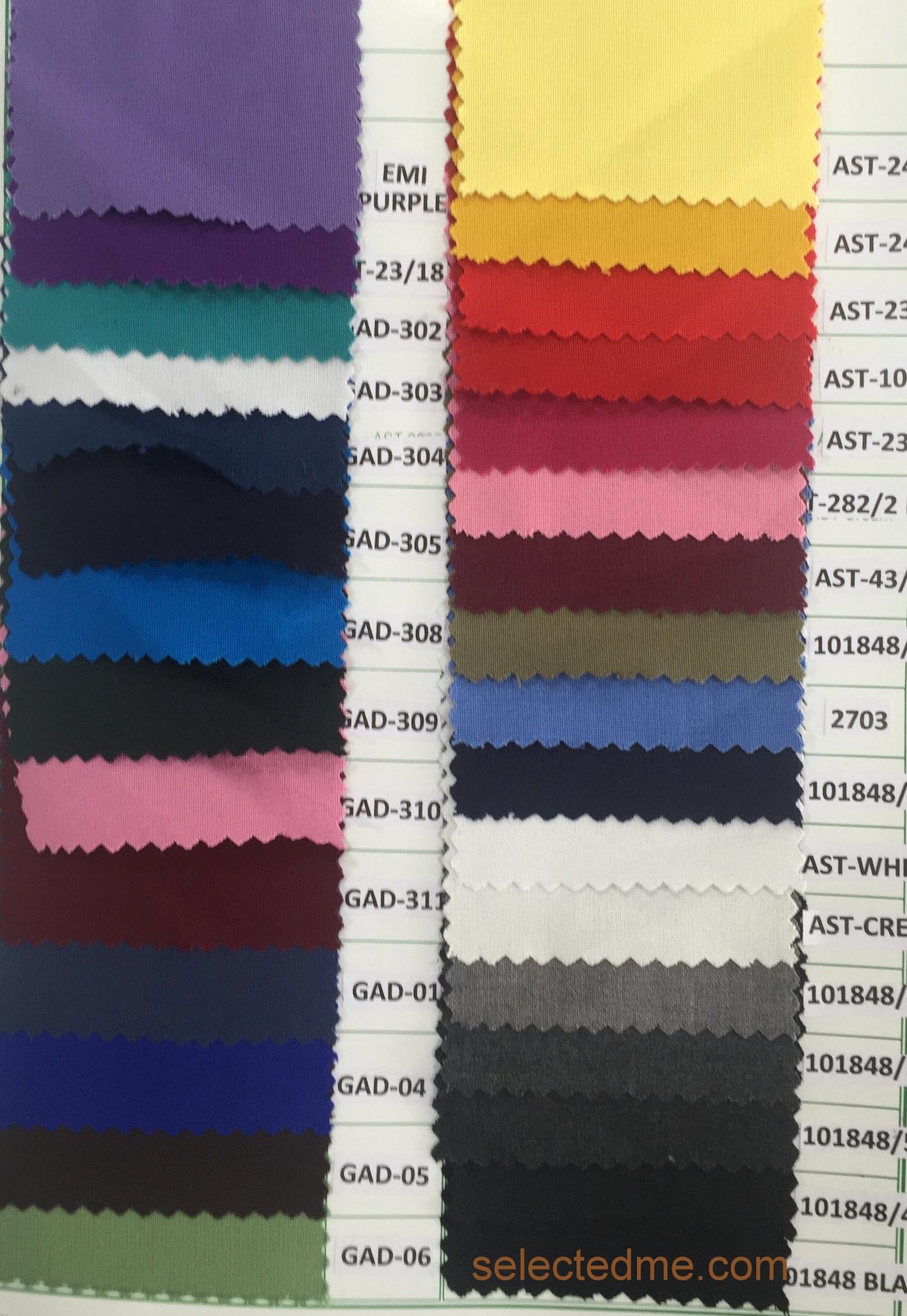 Poly viscose plain weave colors for pant cargo trouser