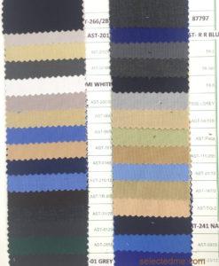 Poly viscose plain weave colors for pant cargo trouser apron