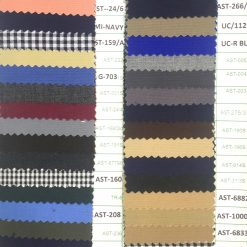 Poly viscose plain weave colours for pant cargo trouser apron