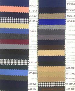 Poly viscose plain weave colours for pant cargo trouser apron
