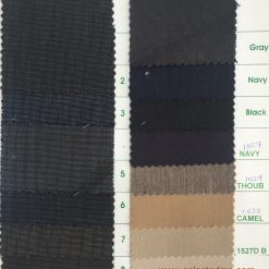 Poly wool suiting fabric colors for suit jacket trouser colour card