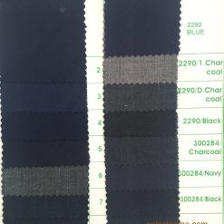 Poly wool suiting fabric colors for suit jacket trouser color card