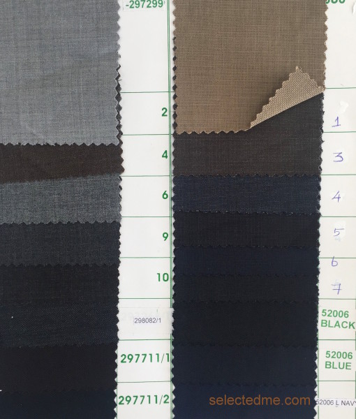 Suits Colours guide Poly wool suiting fabric colors for suits jackets trousers in Dubai UAE