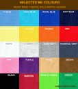Selected Me Colour Card for Ready made Polo Shirts & T-shirts colour chart & colour guide
