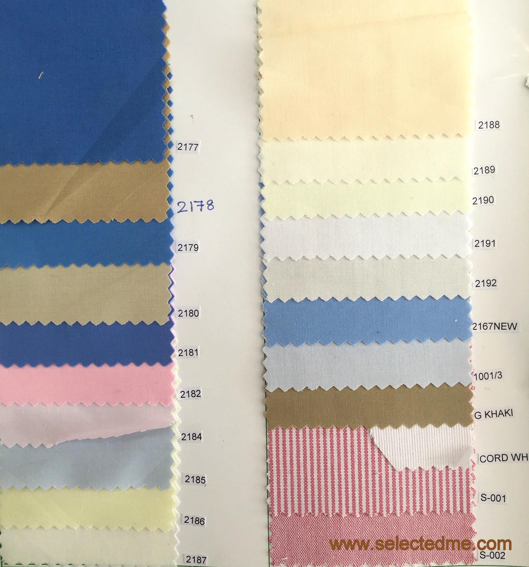 Shirt colours for corporates & School uniforms - TC Cotton shirting in Dubai, United Arab Emirtaes