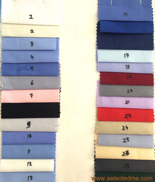Cotton shirting fabric colors for shirt