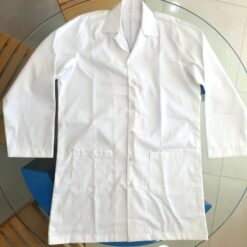 Doctors Lab coats with logo printing and embroidery in Dubai UAE. Medical white overcoat.