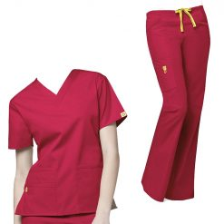 Nurse scrubs suit in Dubai UAE with logo supplier for cheaper price for Men and Women medical uniform scrubs