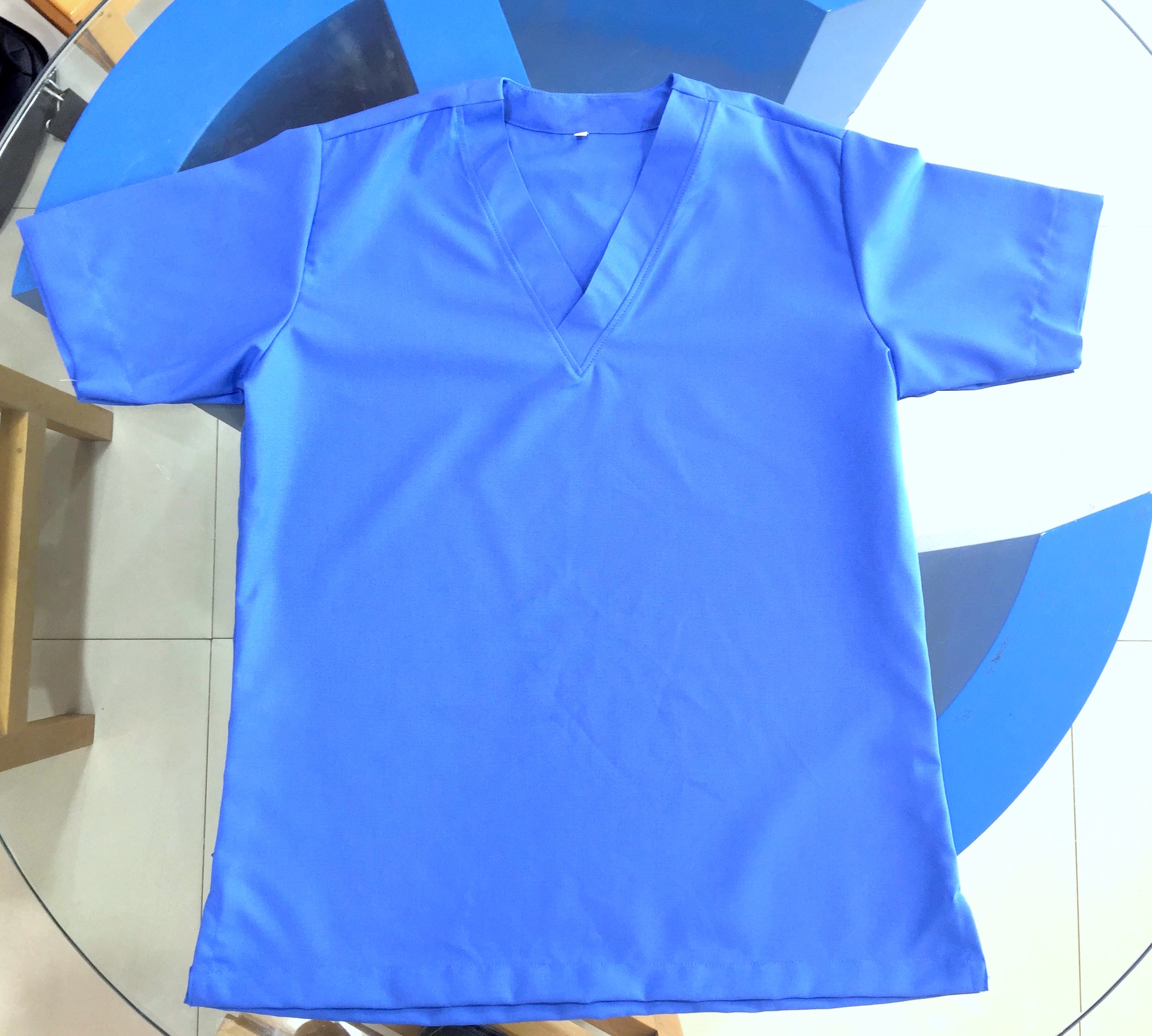 nursing scrubs uniform top and bottom design Blue colour