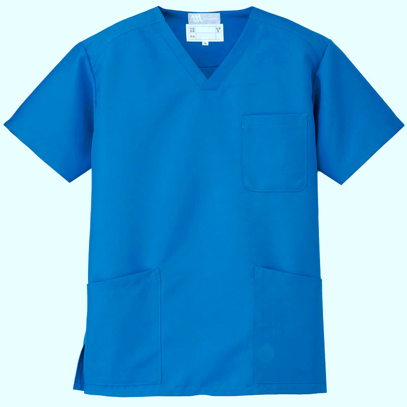 scrubs suit for men and women nurse uniform in Dubiai with embroidery & printing Royal Blue colour