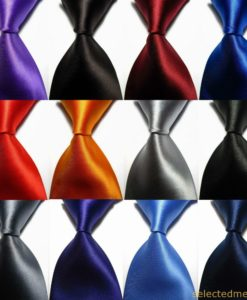 Necktie colours - polyester ties in Dubai UAE