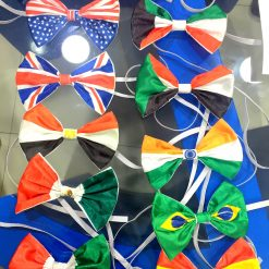 All countries Flag bow Ties United States, India, Australia, Netherland, UAE, India, Russia