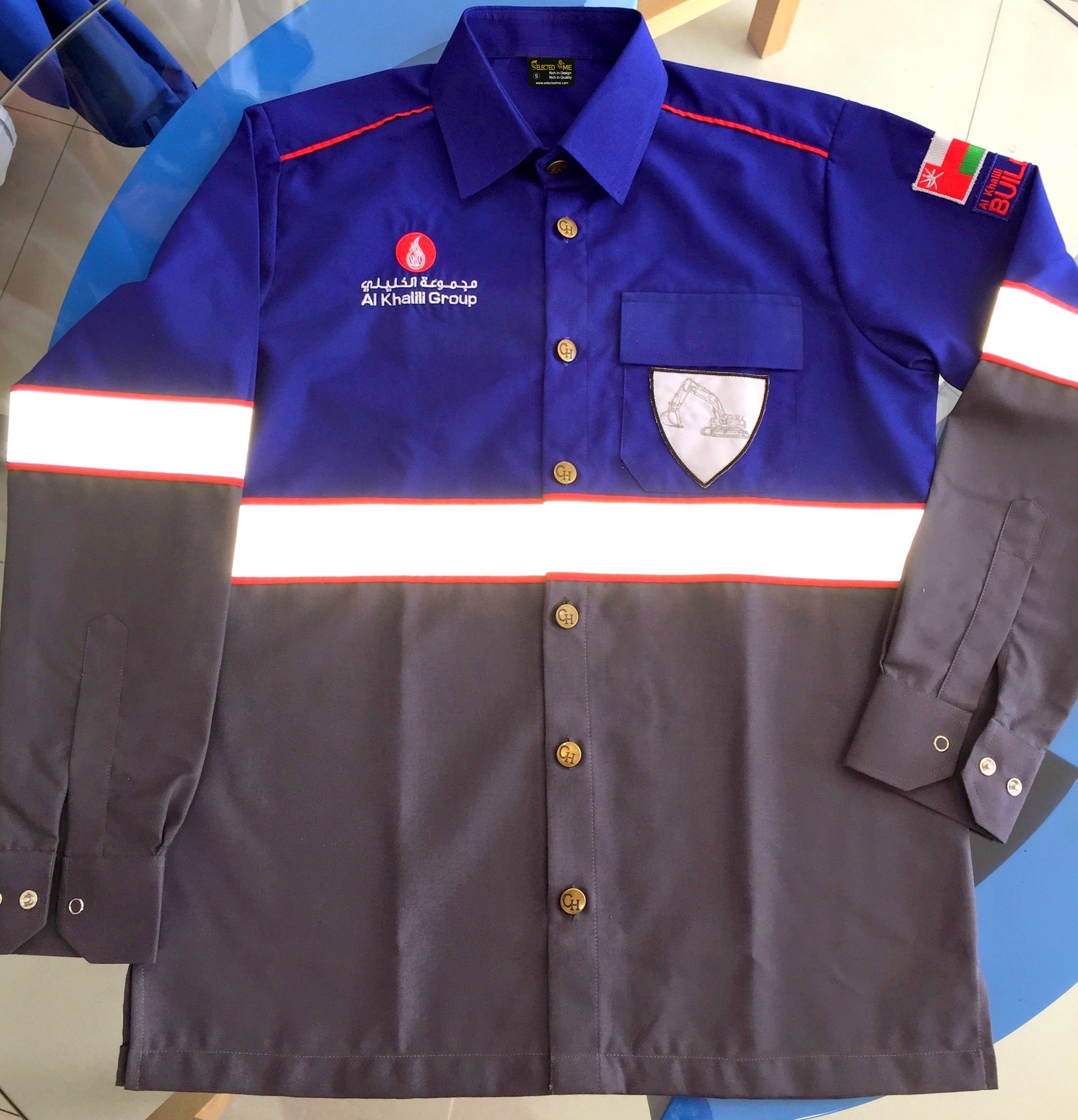 Customized Safety Shirt & Trouser with Reflective tape & embroidery for wholesale cheaper price