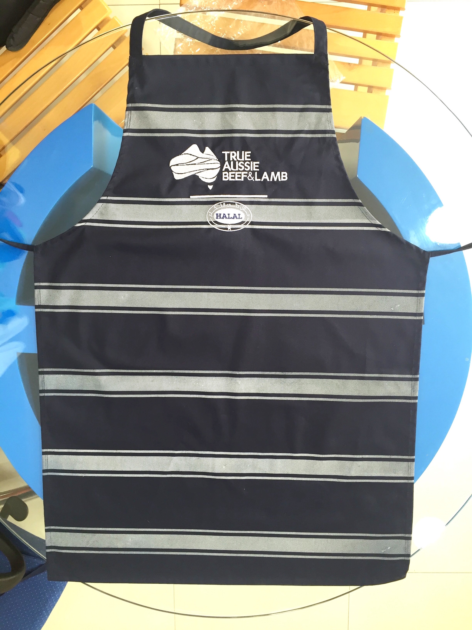 Printed Aprons with Embroidery logo design on it