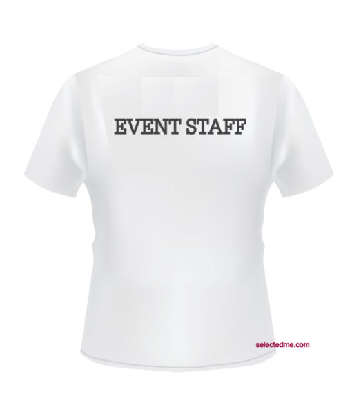 Event Staff Round Neck T-shirt printed on back