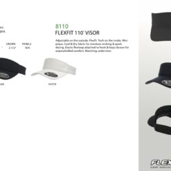 Visor - Flexfit® Visor - Moisture wicking & Quick drying Visor 8110