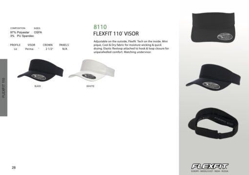 Visor - Flexfit® Visor - Moisture wicking & Quick drying Visor 8110