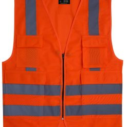 Safety Jackets with pockets & Zipper - High Quality Reflective Jackets