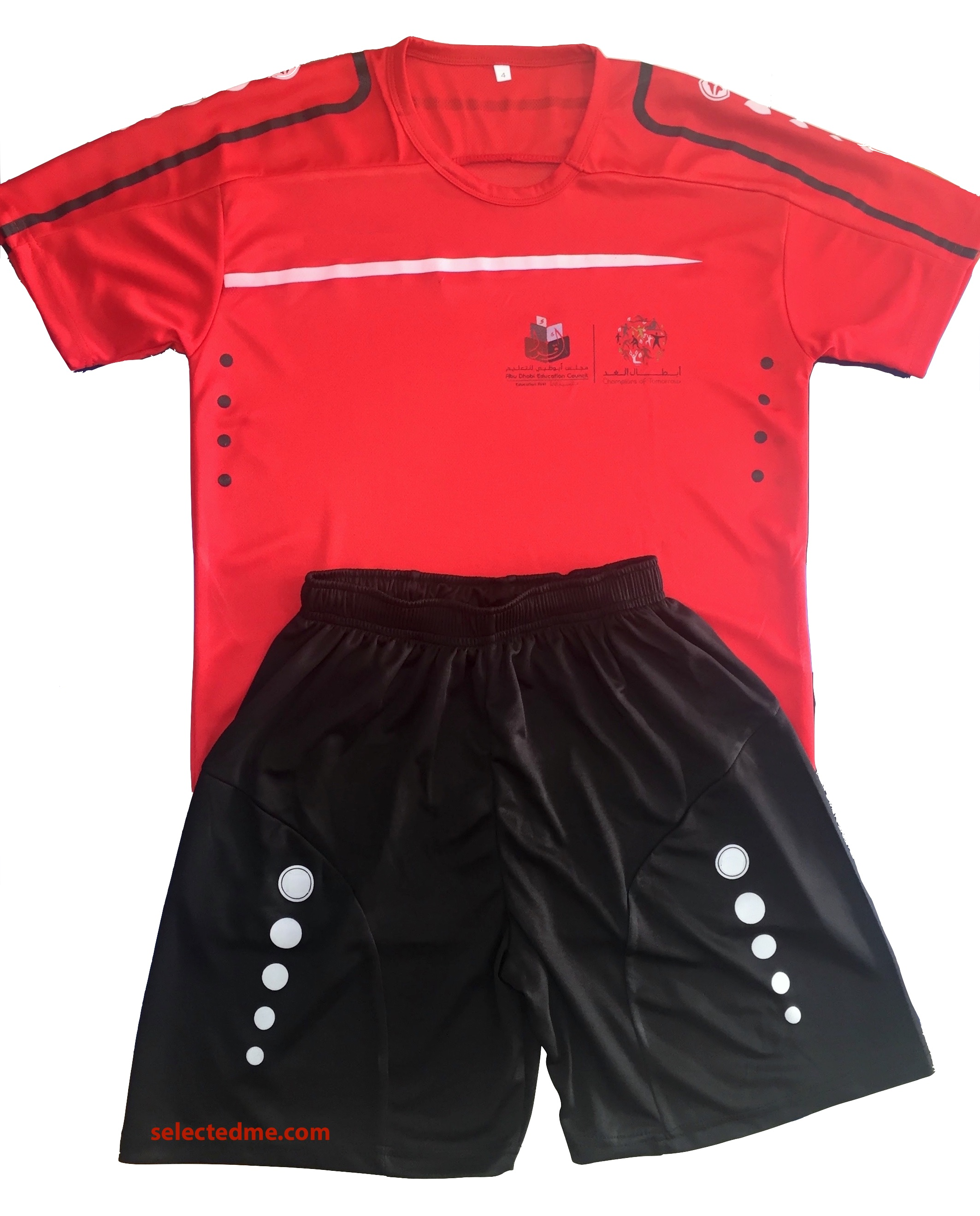 Sports T-shirts Tops & Bottom shorts custom made in Dubai UAE
